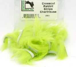 Hareline CROSSCUT RABBIT STRIPS Chartreuse CRS11
