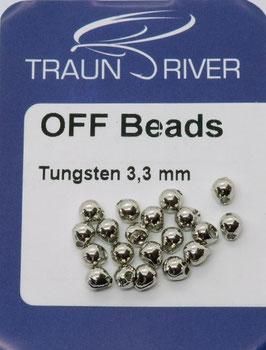 Traun River TUNGSTEN OFF BEADS 3,3mm Silber