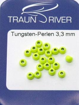 Traun River TUNGSTENKUGELN 3,3mm Fluo Gelb