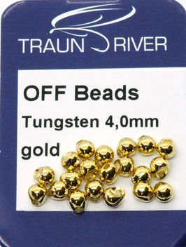 Traun River TUNGSTEN OFF BEADS 4,0mm Gold