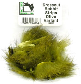 Hareline CROSSCUT RABBIT STRIPS Olive Variant CRS270
