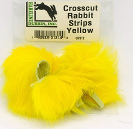 Hareline CROSSCUT RABBIT STRIPS Yellow CRS12