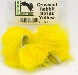 Hareline CROSSCUT RABBIT STRIPS Yellow CRS12
