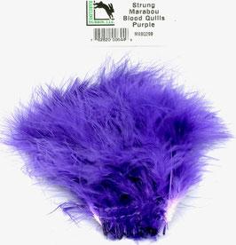 Hareline STRUNG MARABOU BLOOD QUILLS Purple MBSQ298