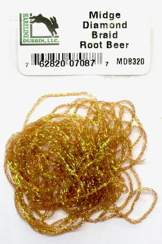 Hareline MIDGE DIAMOND BRAID Root Beer MDB320