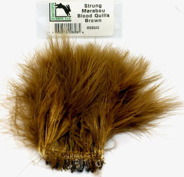 Hareline STRUNG MARABOU BLOOD QUILLS Brown MBSQ40