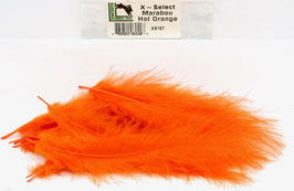 Hareline X- SELECT MARABOU Hot Orange XS187