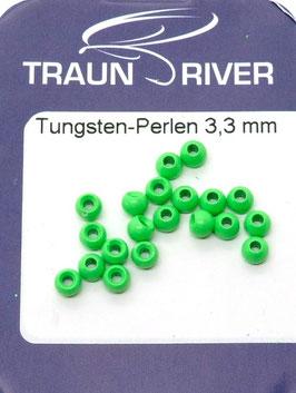 Traun River TUNGSTENKUGELN 3,3mm Fluo Grün