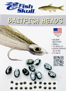 Fish Skull BAITFISH HEADS Silver Small FS-SB-S