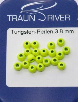 Traun River TUNGSTENKUGELN 3,8mm Fluo Gelb