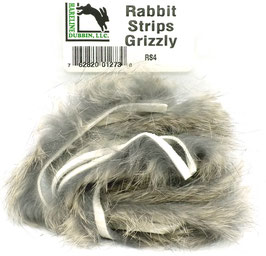 Hareline RABBIT STRIPS Grizzly RS4