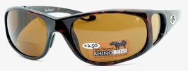 Flying Fisherman NASSAU READERS +2.50 Black Amber