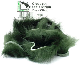 Hareline CROSSCUT RABBIT STRIPS Dark Olive CRS95