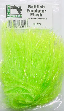 Hareline BAITFISH EMULATOR FLASH Fl. Chartreuse BEF127
