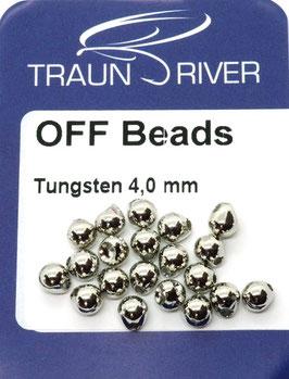 Traun River TUNGSTEN OFF BEADS 4,0mm Silber