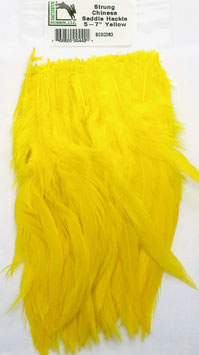 Hareline CHINESE SADDLE HACKLE 5 - 7'' Yellow SCSD383