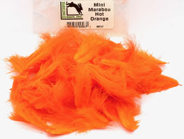 Hareline MINI MARABOU Hot Orange MM187