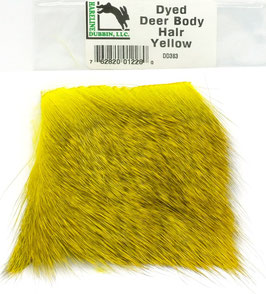 Hareline DYED DEER HAIR Yellow DD383