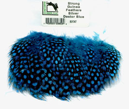Hareline STRUNG GUINEA FEATHERS Silver Doctor Blue SGF347