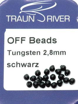 Traun River TUNGSTEN OFF BEADS 2,8mm Schwarz