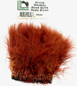 Hareline STRUNG MARABOU BLOOD QUILLS Rusty Brown MBSQ323