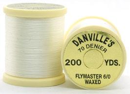 Danville's FLYMASTER 70 Denier Waxed White TFS001