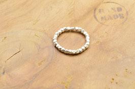 Ring Silberperlen facettiert 925 Sterling Silber
