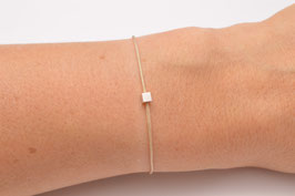Armband mit 925 Sterling Silber Cube