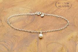 925 Sterling Silber Armband mit einer Perle