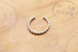 925 Sterling Silber Ring Kugelring upper finger