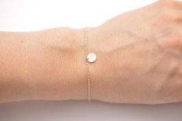925 Sterling Silber Armband mit Plättchen mit personalisierter Prägung