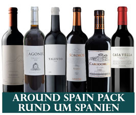 Weine rund um Spanien (6x1 Flasche) & 1 Zapfenzieher