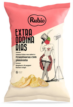 Chips Rubio Rasberry & Pepper 110g