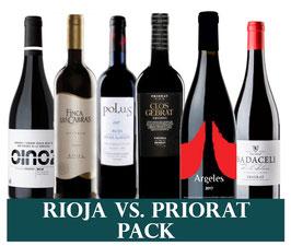 3 x Rioja vs. 3 x Priorat (6x1 Flasche) & 1 Zapfenzieher