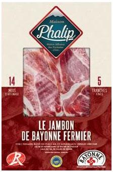 Jambon de Bayonne geschnitten