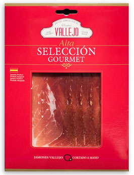 Jamón Trevelez 100% natural geschnitten