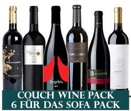Kräftige Weine für die Couch (6x1 Flasche) & 1 Zapfenzieher