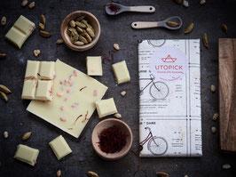 Utopick White Chocolate - Saffron, Cardamom