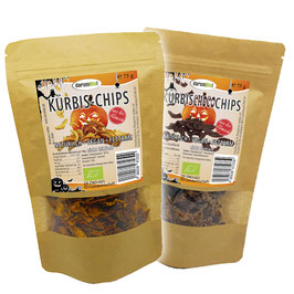 Kürbis-Chips und Kürbis-Choco-Chips