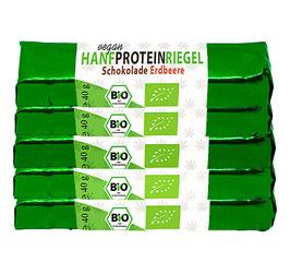 Hanf-Proteinriegel 5er-Pack mit Hanfprotein vom Biohof  Lindenberg / Altmark