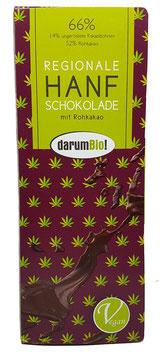 Hanfschokolade mit Hanfsamen vom Biohof  Lindenberg / Altmark