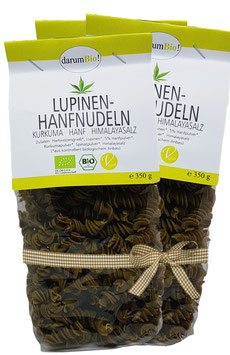 Lupinen-Hanfnudeln 3er-Pack mit Hanf vom Biohof Lindenberg / Altmark