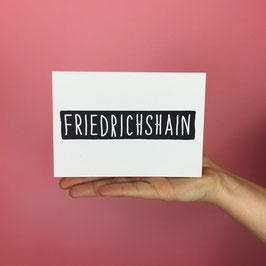 POSTCARD FRIEDRICHSHAIN