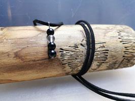 Halskette Schwarzer Turmalin mit Bergkristall
