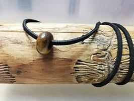 Tigerauge Halskette mit Edelstein Perle