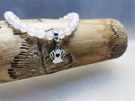 Rosenquarz Heilsteinarmband mit Schutzengel