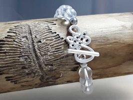 Armband Bergkristall mit keltischem Knoten