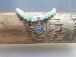 Amazonit Armband türkis mit Herz
