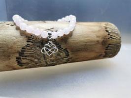 Armband Rosenquarz Keltischer Knoten Anhänger