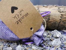 Schutzsteine Bergkristall mit Lavendel